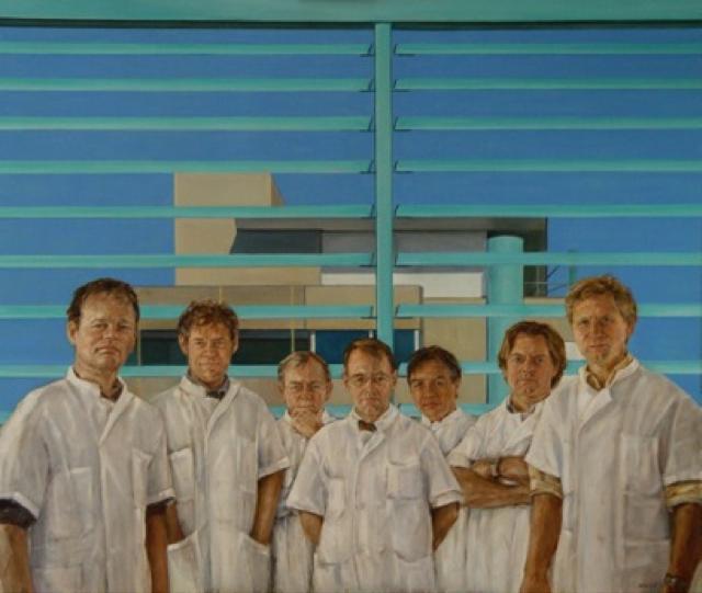 Schilderij specialisten afdeling Hoofdhalsoncologie